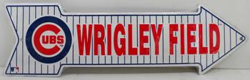 Wrigley Baseball Field Arrow Metal Sign