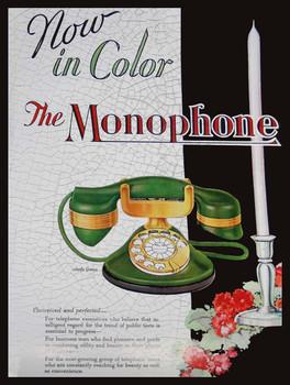 The Monophone in Jade Green Advertisement
