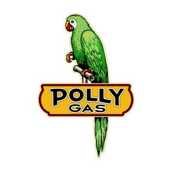 Polly Gas Parrot Arrow Plasma Cut Metal Sign