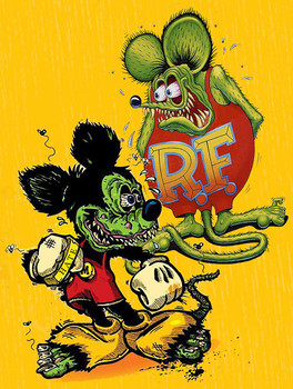 Rat Fink and Mickey Friends