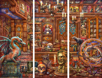 Magic Emporium by Michael Fishel Triptych Metal Sign