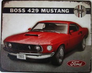 Boss 429 Mustang Metal Sign