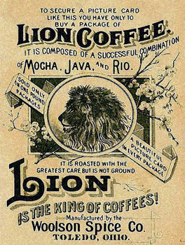 Lion Coffee Vintage Style Ad Metal Sign