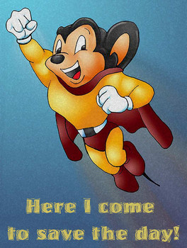 Mighty Mouse Metal Sign