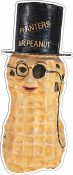 Mr. Peanut Plasma Cut Metal Sign