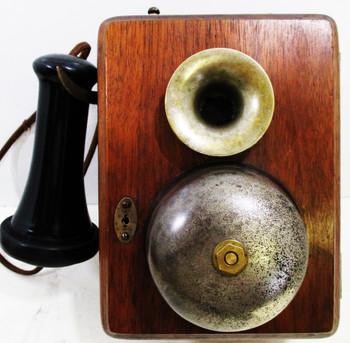 Quarter-Sawn Oak Intercom Telephone Circa 1900's