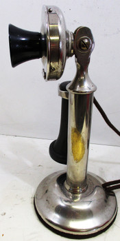 Western Electric Nickel Plated Candlestick Telephone Circa 1900