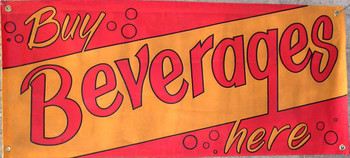 Buy Beverages Here Canvas