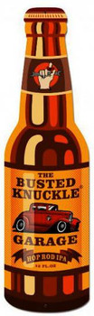 "Busted Knuckle Bottle (26"" by 8"" Plasma Cust Metal Sign)"