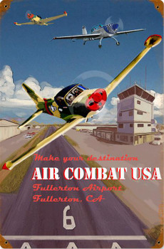 Air Combat USA Vintage Metal Sign