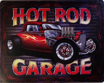 Hot Rod Garage Metal Sign 3