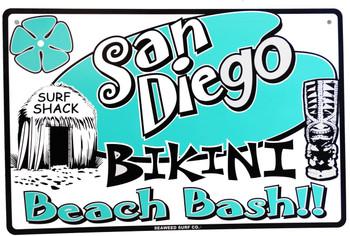 San Diego Bikini Beach Bash Aluminum Sign
