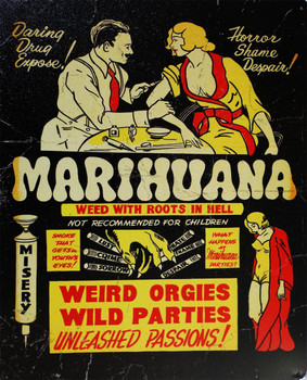 Marihuana-Roots In Hell Metal Sign