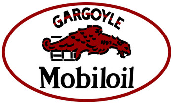 "Gargoyle Mobiloil 24"" Oval Metal Sign"