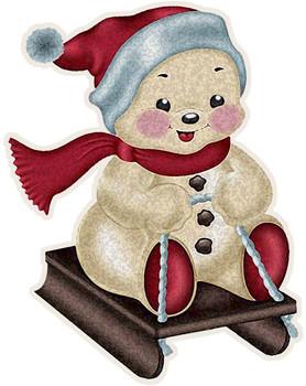 Holiday Bear Sledding Plasma Cut Sign