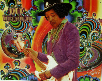 Everything Groovy Jimi Hendrix Metal Sign