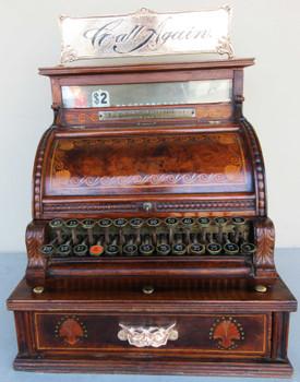 NCR Black Walnut Cash Register Model 2 circa 1892