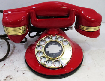 Automatic Electric Round Base Model #40 Circa 1929 Telephone (Red)