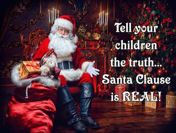 Santa is Real Metal Sign