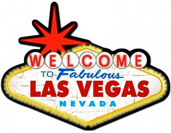 Distressed Welcome to Las Vegas Metal Sign