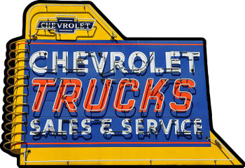 Chevrolet Trucks Sales and Service Plasma Cut Metal Sign