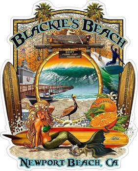Blackie's Beach Newport Beach Metal Sign