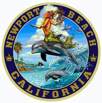 Newport Beach California Metal Sign