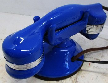 Automatic Electric Round Base Model #40 Circa 1929 Telephone (Blue)