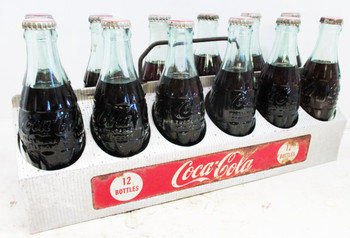 Coca-Cola 12 Pack Aluminum Bottle Carrier with Bottles