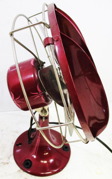 Four Bladed Fan with Diffusers (Maroon) Restored Circa 1950's