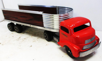 Smith Miller Red GMC Tractor And Trailer Circa 1950's