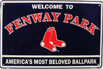 Welcome to Fenway Park Embossed Aluminum Sign