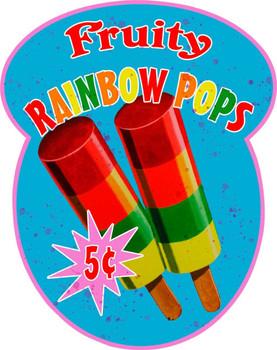 Fruity Rainbow Pops