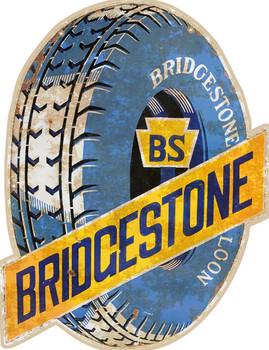 Bridgestone Tires Plasma Cut Sign