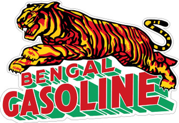 Bengal Gasoline Plasma Cut Metal Sign
