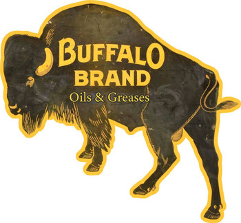 Buffalo Brand Motor Oil Plasma Cut Metal Sign