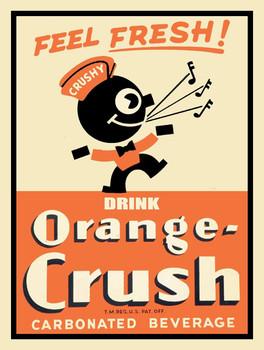 Drink Orange Crush Advertising Metal Sign