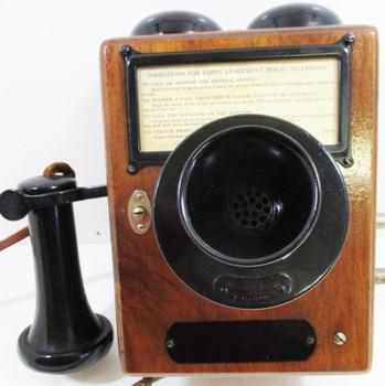 Western Electric 293A Oak Apartment Telephone Circa 1900's