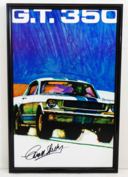 Signed GT 350 Mustang Metal Sign by Carroll Shelby
