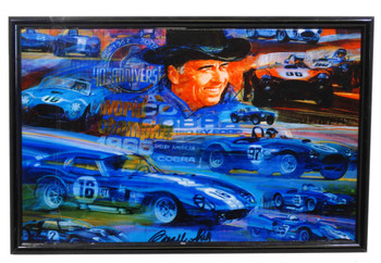 Signed Carroll Shelby Collage Metal Sign by Carroll Shelby