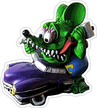 Rat Fink Purple Car Plasma Metal sign