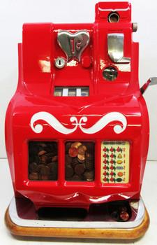 MILLS 1c QT Sweetheart Slot Machine circa 1930 fully restored