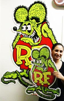 "Rat Fink Large Plasma Cut Metal Sign 62"" by 42"""""