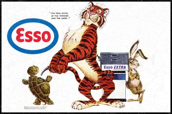 Esso Tiger Premium Motor Oil Metal Sign