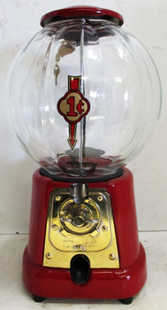 Advanced One Cent Peanut Dispenser Unique Glass Globe Circa 1923's