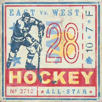 Hockey Metal Sign