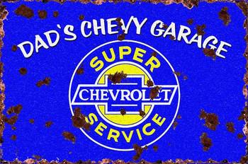 Dad's Chevy Garage (rustic)