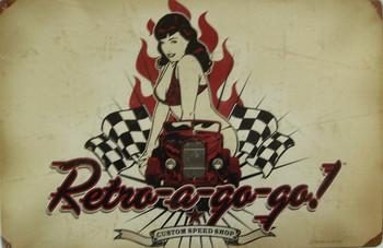 Retro-a-go-go ! Metal Sign