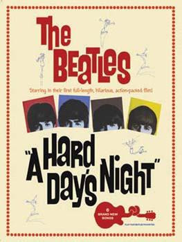 Beatles- A Hard Day's Night Metal Sign