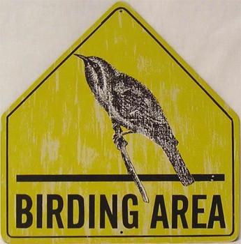 Birding Area Safety Sign